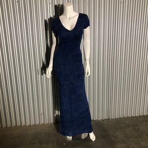 Bcbg Maxazria Long tee dress blue print maxi M
